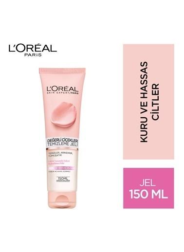 L'Oréal Paris Değerli Çiçekler Temizleme Jeli Kuru Ve Hassas Ciltler Renksiz